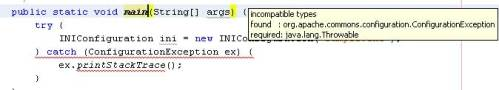 NetBeans 6 Bug - ConfigurationException Class